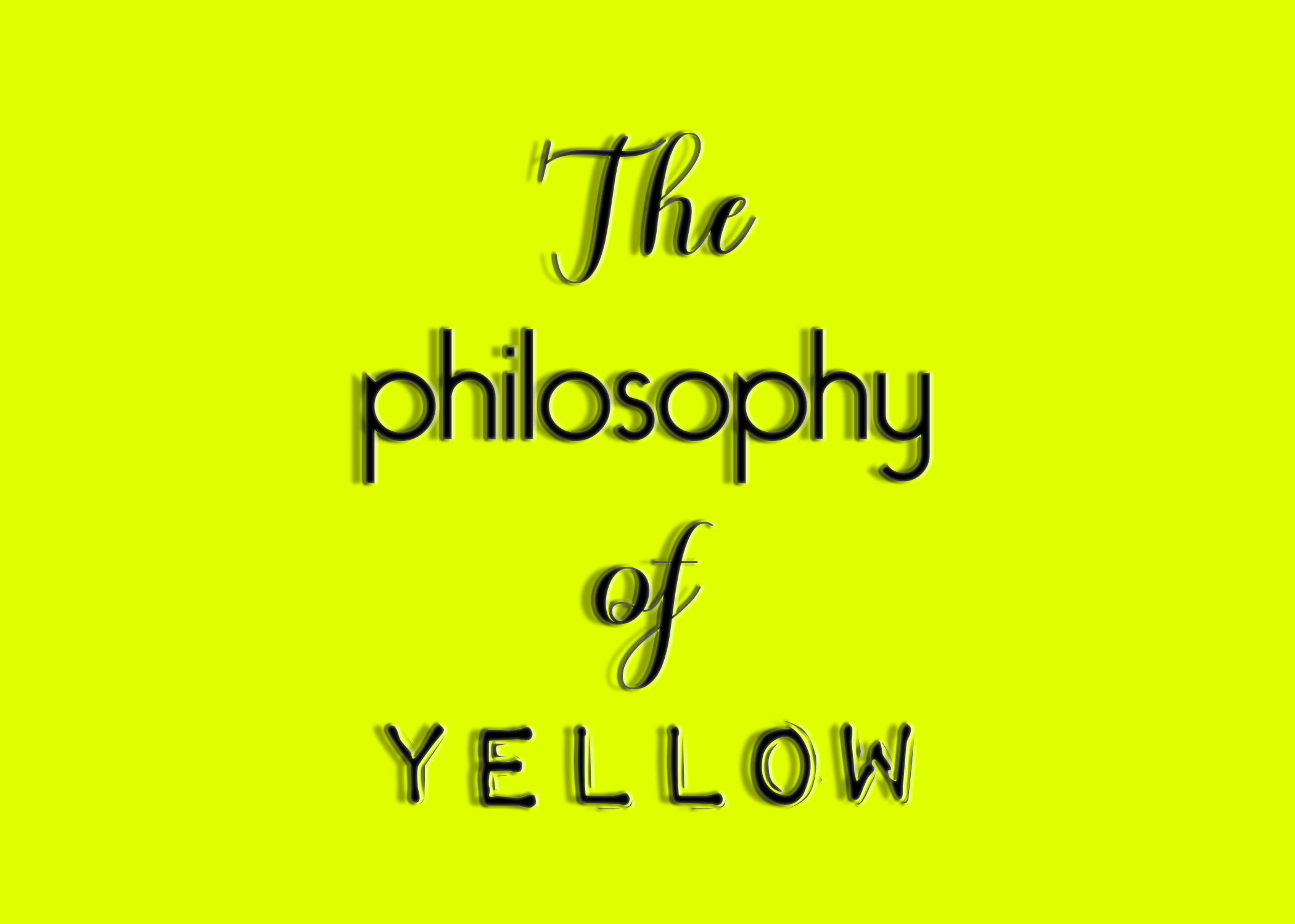 The Philosophy of Yellow Wix