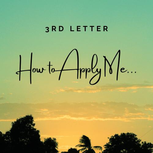 3rd Letter